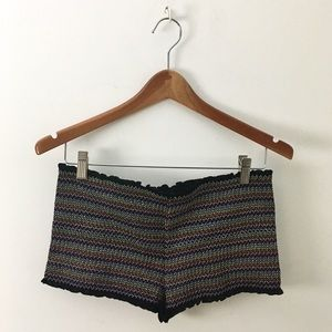 UO Out From Under Embroidered Hot Pants